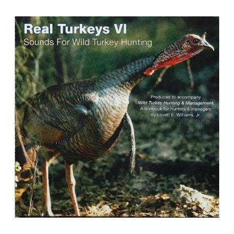 Real Turkeys Sounds For Wild Turkey Hunting CD