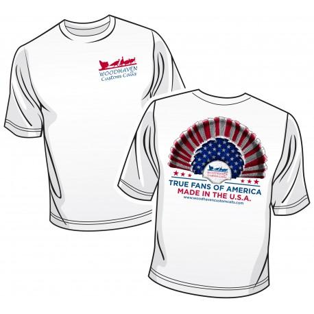 WoodHaven Short Sleeve Patriotic Logo T-Shirt