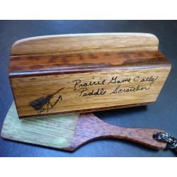 Prairie Calls Butternut & Snakewood Paddle Scratcher