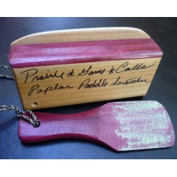 Prairie Calls Poplar & Purpleheart Paddle Scratcher