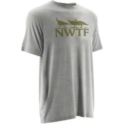 Nomad NWTF Turkey Track S/S Tshirt - Grey