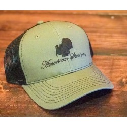 American Strutter OD Green & Black Mesh Snap Back Hat