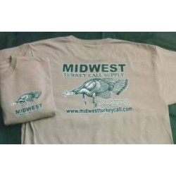 Midwest Short Sleeve Logo T-Shirt- Khaki