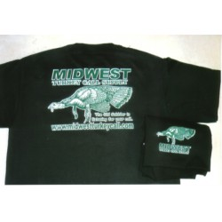 Midwest Short Sleeve Logo T-Shirt- Black