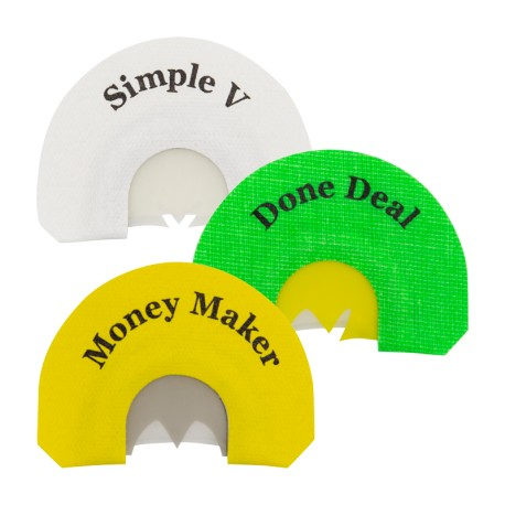 Rolling Thunder Mouth Call 3-Pack (Money Maker, Done Deal, Simple V)