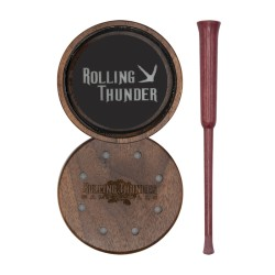 Rolling Thunder Glass Pot Call with Purpleheart Striker