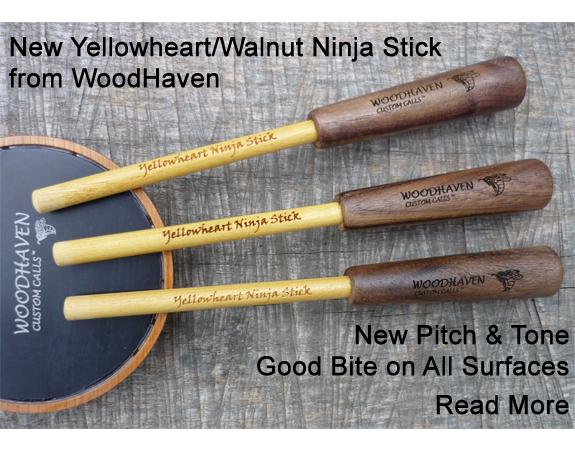 New Yellowheart/Walnut Ninja Stick from WoodHaven