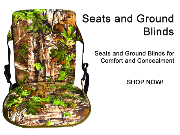 Seats and Ground Blinds for Comfort and Concealment